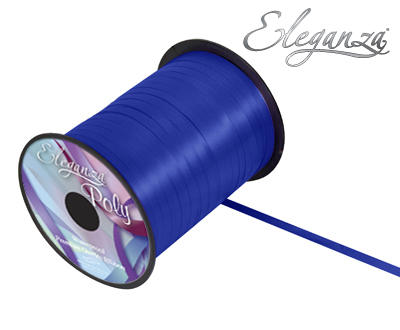 Eleganza Poly Curling Ribbon 5mm x500yds No.19 Navy Blue - Ribbons