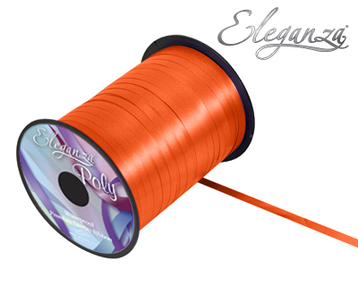 Eleganza Poly Curling Ribbon 5mm x500yds No.04 Orange - Ribbons