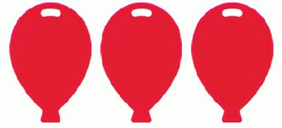 Balloon Shape Weights - Red x100pcs - Accessories