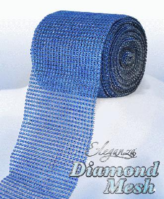 Eleganza Diamond Mesh 12cm x 9m Royal Blue No.18 - Accessories