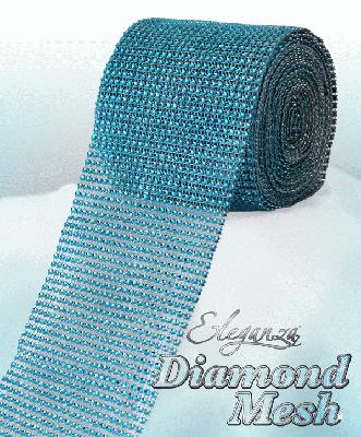 Eleganza Diamond Mesh 12cm x 9m Turquoise No.55 - Accessories