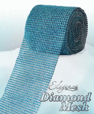 Eleganza Diamond Mesh 12cm x 9m Turquoise No.55 - Accessories