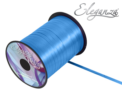 Eleganza Poly Curling Ribbon 5mm x500yds No.55 Turquoise - Ribbons
