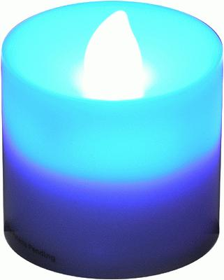 Votive Candle Blue Flicker (Special Net Price) - L.E.D Lights