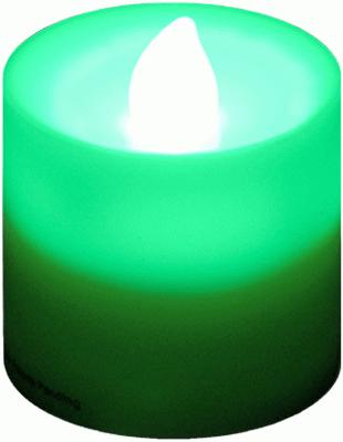 Votive Candle Green Flicker (Special Net Price) - L.E.D Lights