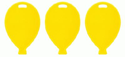 Balloon Shape Weights - Yellow x100pcs - Accessories