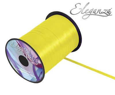 Eleganza Poly Curling Ribbon 5mm x500yds No.11 Yellow - Ribbons