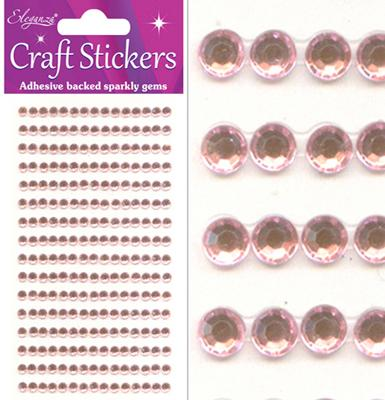 Eleganza Craft Stickers 4mm 240 gems Pearl Pink No.21 - Craft